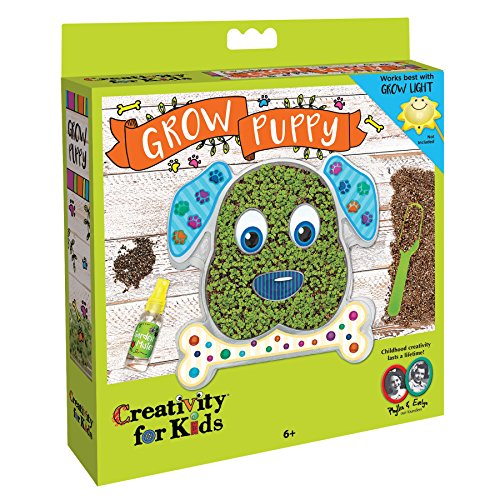 Creativity for Kids GROW Puppy - Chia Seed Indoor Gardening Kit for Kids