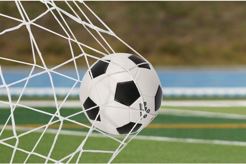 Match f/ür Sport leicht zusammenklappbar tragbar Fu/ßball-Training Dilwe Fu/ßballnetz