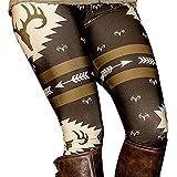 Leggings,Elaco Women New Design Elk Deer Skinny Printed Stretchy Pants Leggings (M, Black)