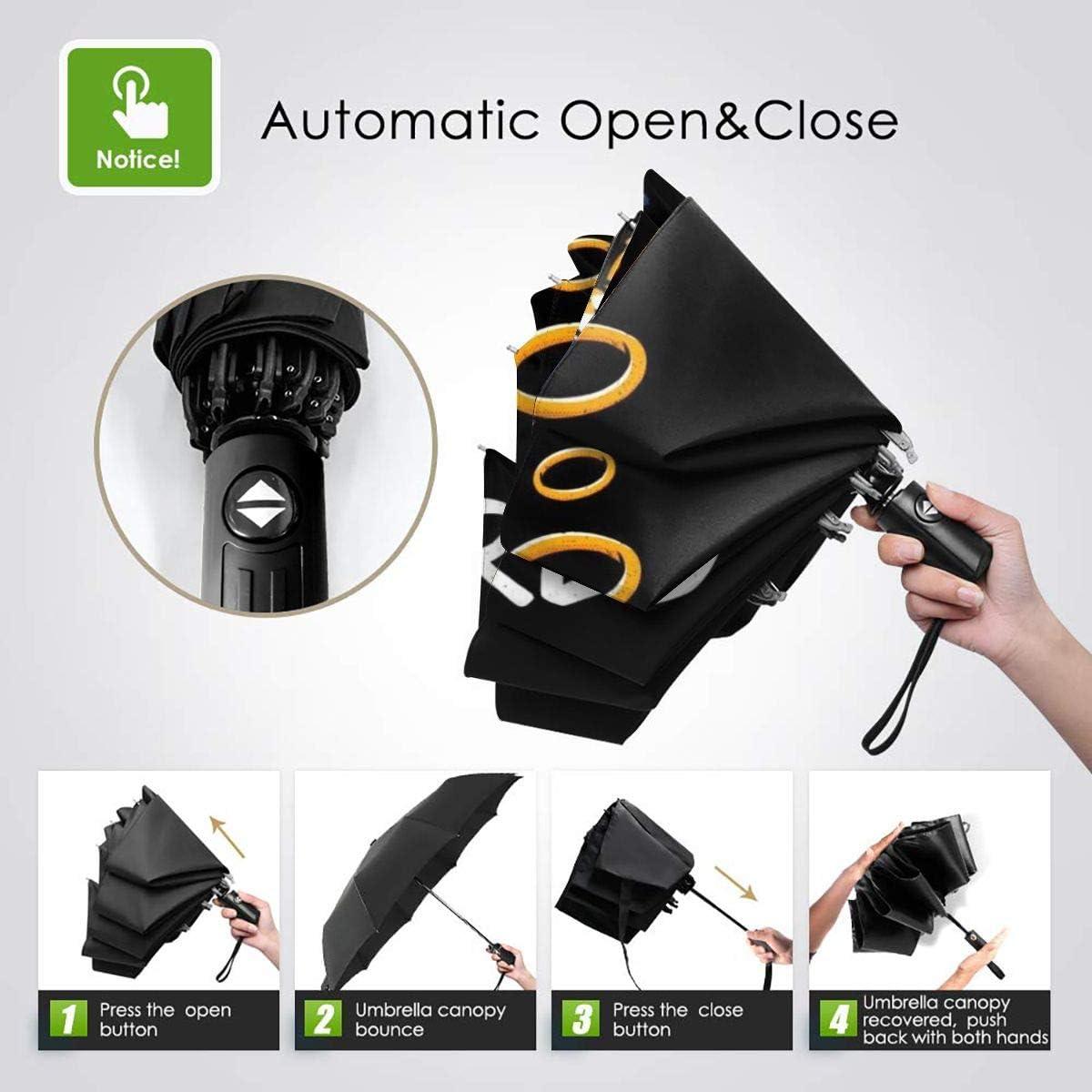 Tired Sonic Windproof Compact Auto Open And Close Folding Umbrella,Automatic Foldable Travel Parasol Umbrella