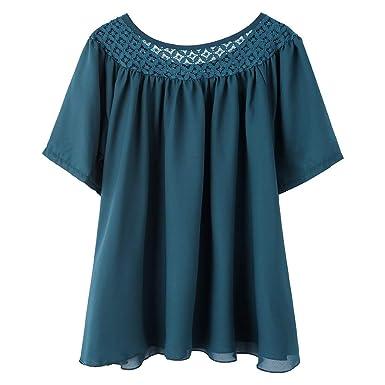 Damen  T-Shirt  leich Sommer Shirt Kurzarm Oberteil
