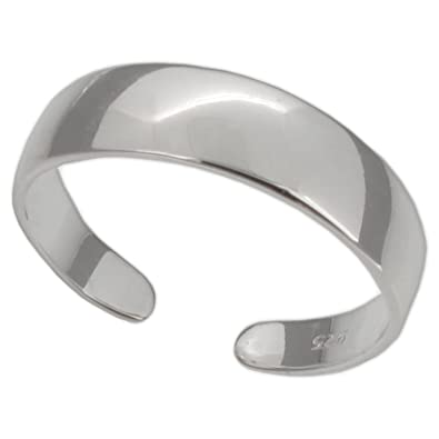 Touch Jewellery Sterling Silver Plain Band Toe Ring Amazon Co Uk