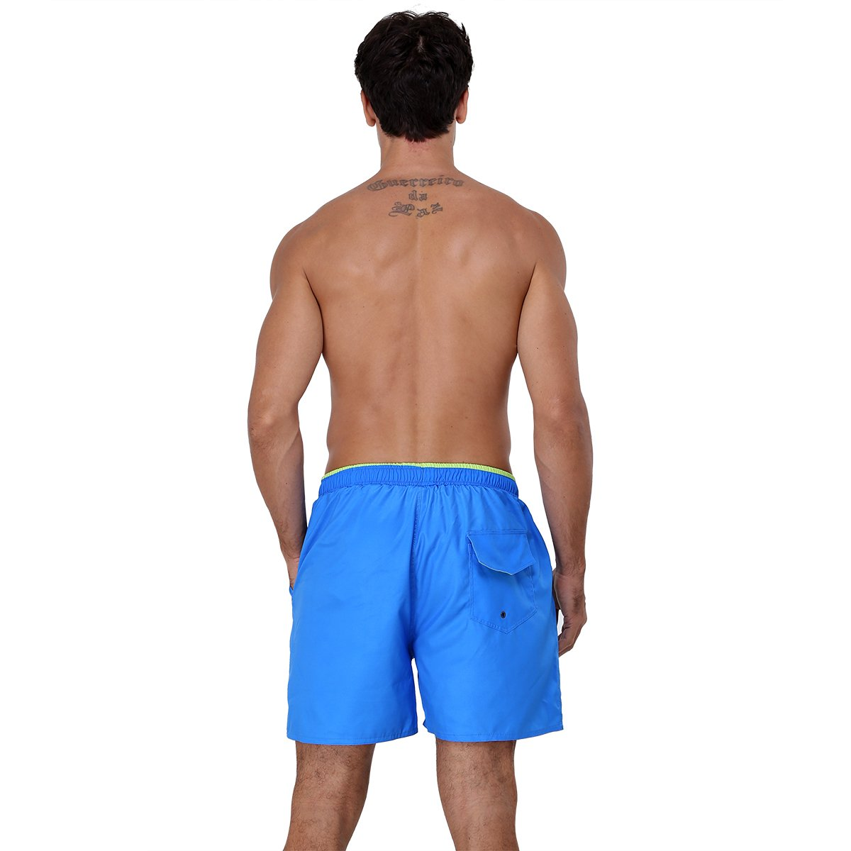 Men\'s Quick Dry Mesh Lined Swim Trunks With Pockets