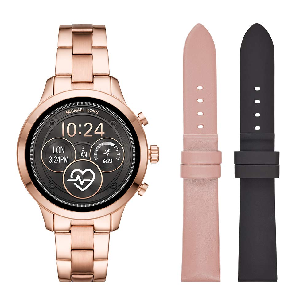 Michael Kors Women's Smartwatch Touchscreen Watch with Stainless-Steel Strap, Rose Gold, 18 (Model: MKT5054)