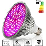 Derlights 100W Full Spectrum LED Grow Light Bulb, High Efficient Plant Light Bulb for Indoor Garden Hydroponics Greenhouse Organic, E27 Socket (100W)