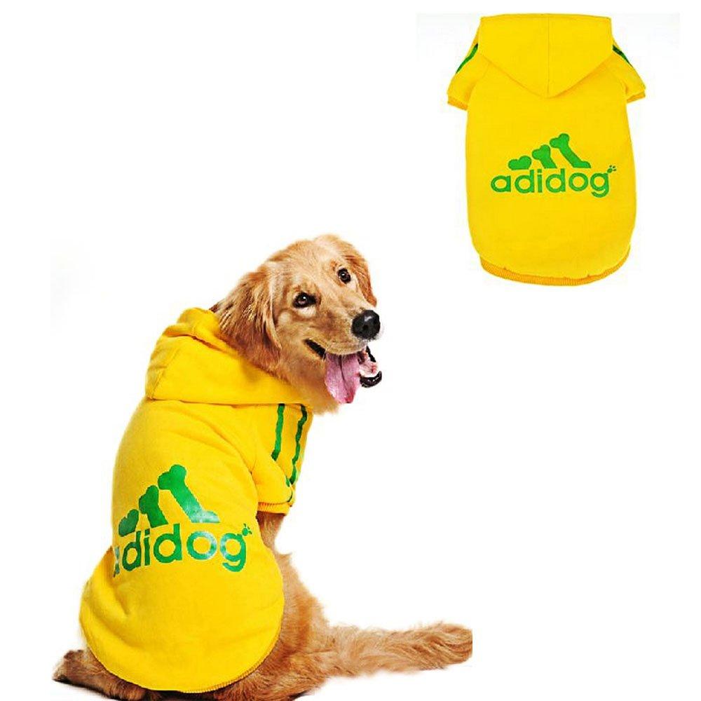 maglietta per cane cucciolo Eastlion cappotto felpato Adidog con cappuccio per cane domestico