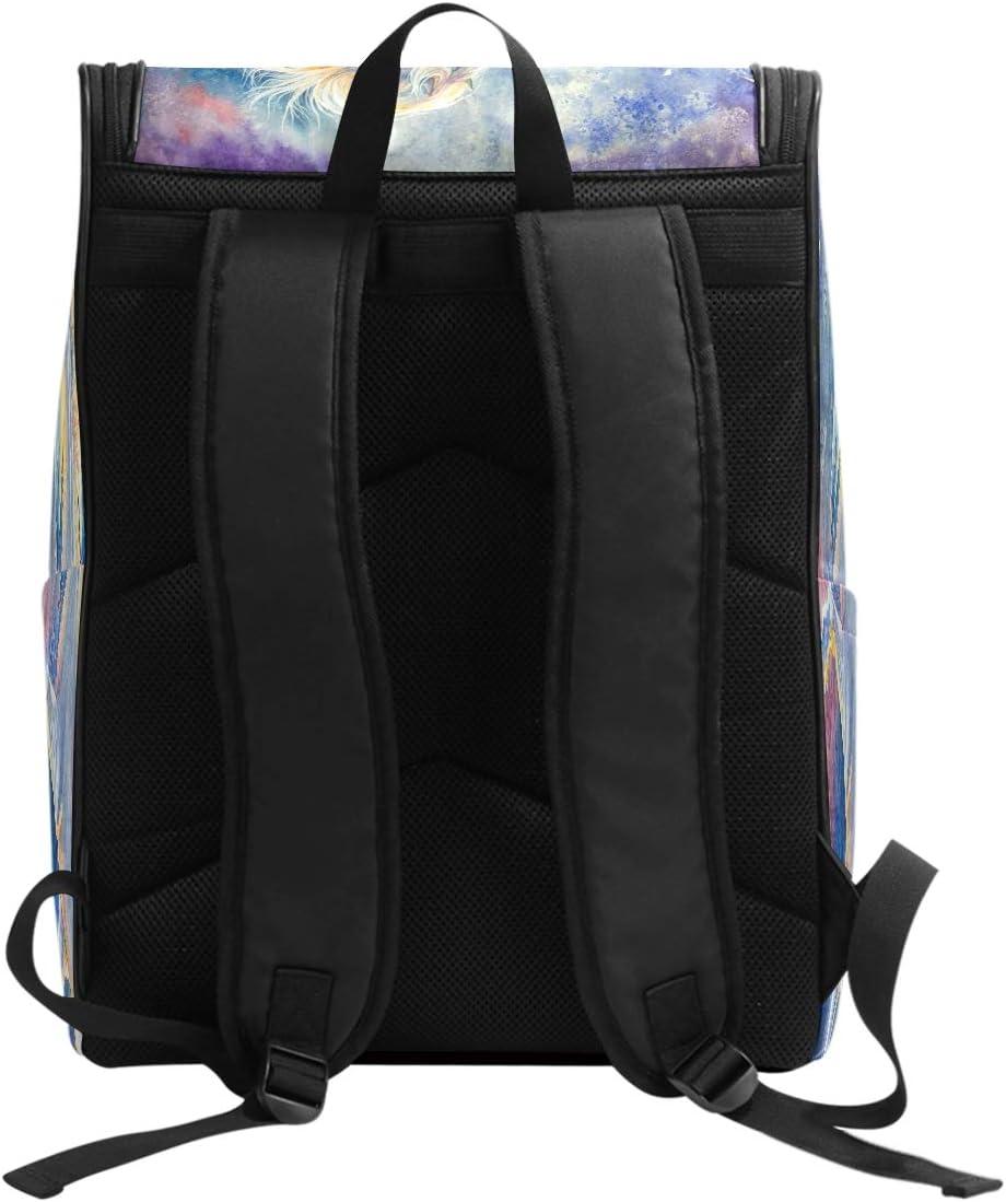 AUUXVA Backpack Painting Animal Horse Durable Laptop Travel Shoulder Bag Hiking for Women Girls Men Boys