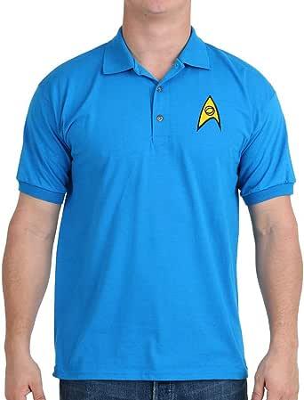 Mighty Fine Star Trek Starfleet Science Uniform Polo Shirt
