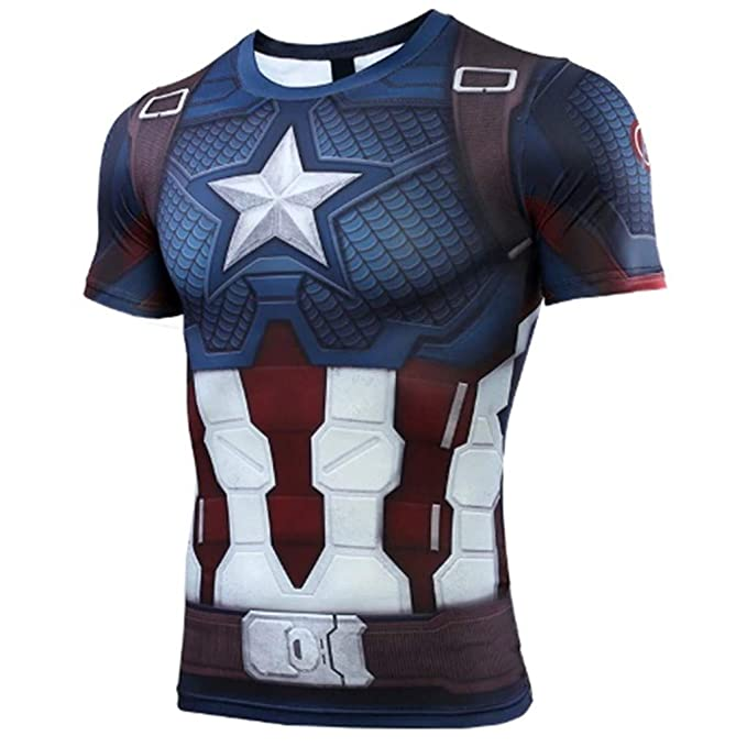 Ampparels Superhero Spider Tshirt Compression Sports Fitness Men Base Layer Long Half Sleeves