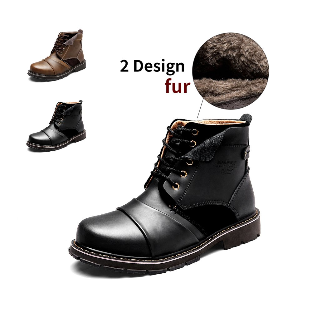 ENLEN&BENNA Men's Work Boots Fashion Casual Boot Motorcycle Boots Ankle Boots Dress Boots Combat Boots Cap Toe