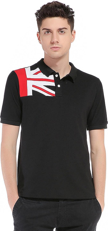 Sportides Hombre England Flag Printing Casual Polo Shirt Short ...