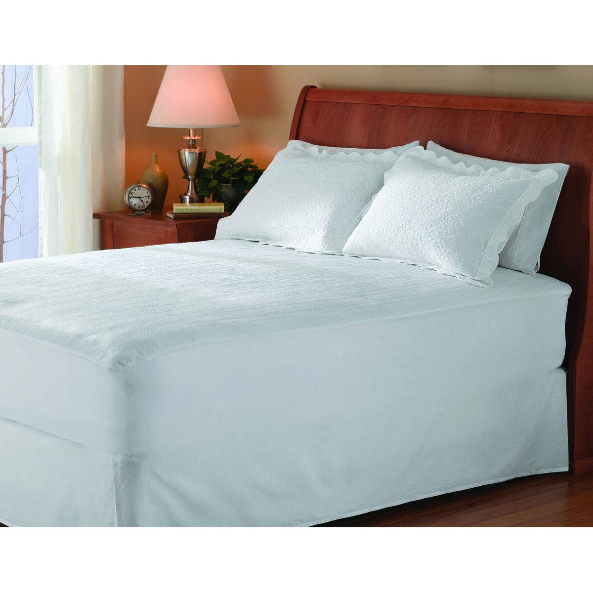 Sunbeam Year Round Heated Fitted Mattress Pad with 5 Heat Settings (Full Size)