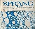 Sprang; thread twisting,: A creative textile technique