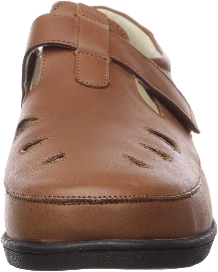 Propét Women's Ladybug T-Strap Walking Shoe Mary Jane Flat Chestnut