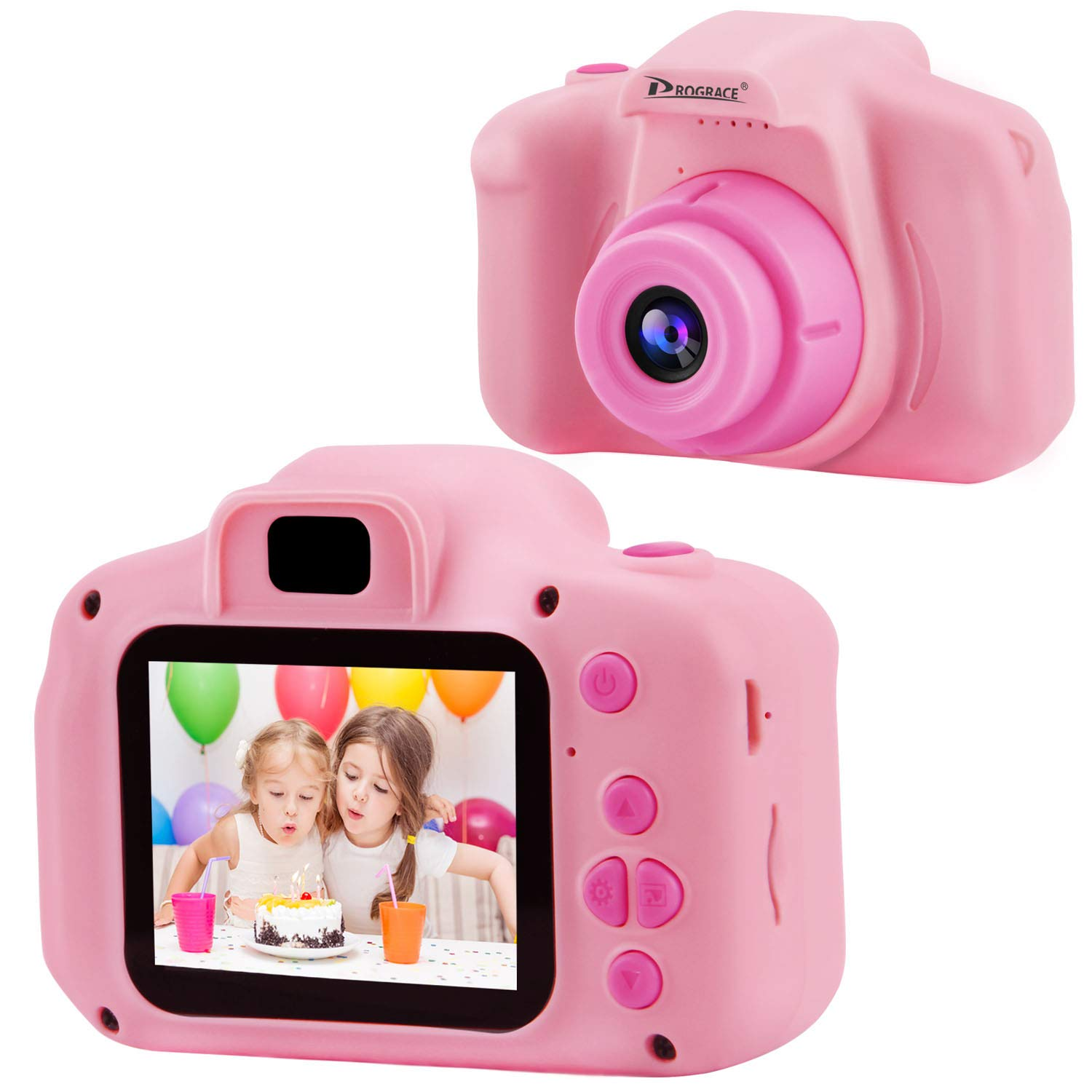 Prograce Kids Camera Children Digital Cameras for Girls Birthday Toy Gifts 4-12 Year Old Kid Action Camera Toddler Video Recorder 1080P IPS 2 Inch by PROGRACE