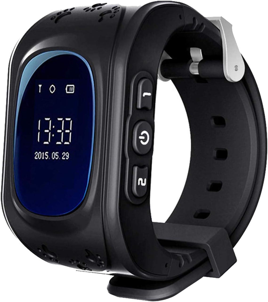 Zeerkeer Rastreador GPS Reloj Inteligente para Niños,GPS/LBS Posicionamiento en Tiempo Real Reloj SOS Antipérdida Reloj Inteligente para Niños