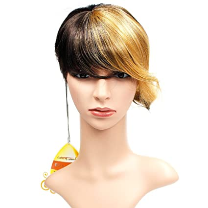 Wendy Hair Ombre peluca de pelo sintético, peluca corta, resistente al calor, peluca