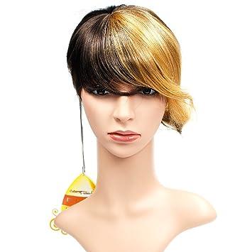 Wendy Hair Ombre peluca de pelo sintético, peluca corta, resistente al calor, peluca colorida, peluca de cosplay diaria para mujer: Amazon.es: Belleza