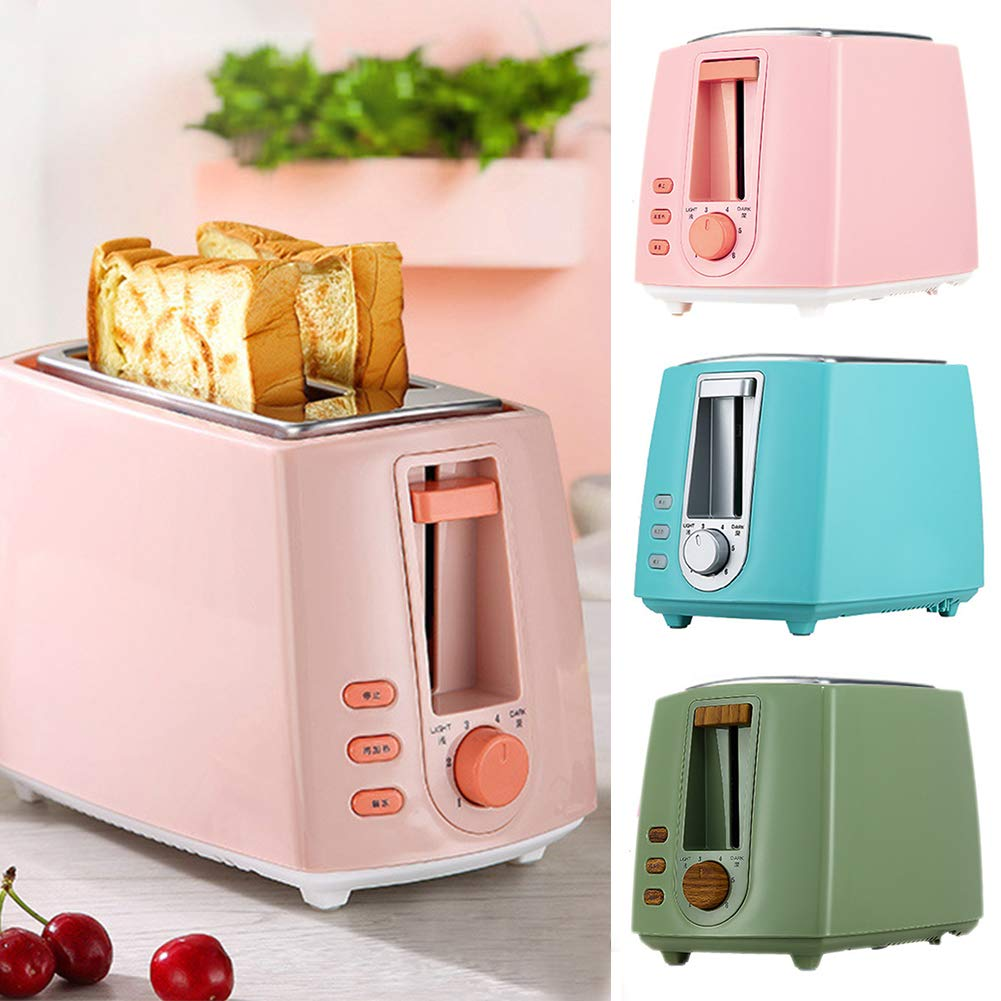 Gyswshh 2-slice Automatic Electric Toaster, Breakfast Maker,Household Bread Toast Machine Green by Gyswshh (Image #5)
