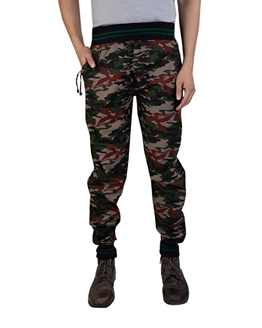 beautiful design big collection 50% off CAPE9 Casual Cargo Military Print Style Joggers Relaxed Fit with 4 Pockets  for Men - Free Size fits All (28 to 36 Waist Size)