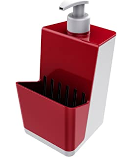 Amazon.com: Um Joey Kitchen Soap Pump with Scrubby Holder, Red ... on bathroom soap dispenser, outdoor soap dispenser, home soap dispenser, residential soap dispenser, kitchen soap dispenser, hotel soap dispenser, modern soap dispenser, glass soap dispenser, concrete soap dispenser, wall soap dispenser, diy soap dispenser, wood soap dispenser, office soap dispenser, garage soap dispenser, space soap dispenser, restaurant soap dispenser,