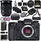 Fujifilm X-H1 Mirrorless Digital Camera (Body Only) 16568731 XF 16-55mm f/2.8 R LM WR Lens 16443072 VPB-XH1 Vertical Power Booster Grip Bundle