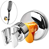 nuosen Shower Head Holder,Adjustable Removable Shower Wall Bracket Suction Cup Universal Shower Head Mount