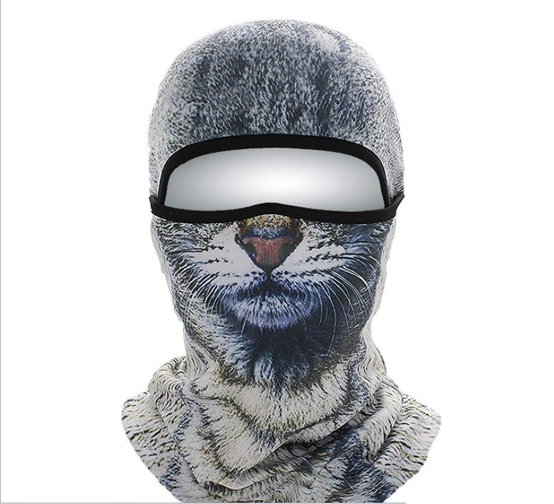 Warm Full Face Bike Maske Cover, Winter Windproof Neck Warmer Wind Proof Ski Maske, Fit Helm Hut für Adults-One Größe