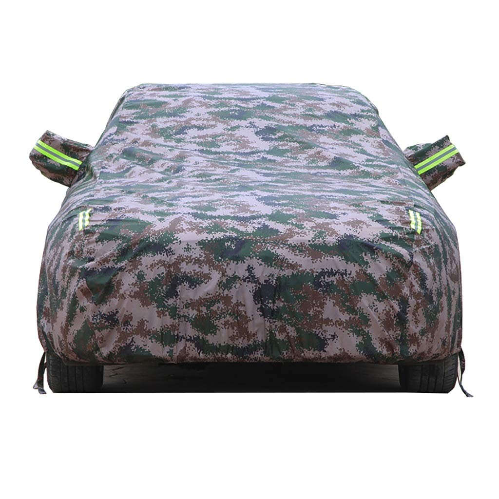 Hty cz Cadillac Car Cover Shading Insulation Car Cover Clothes Indoor Outdoor Waterproof Breathable Sun Rain Uv All Weather Protection Fit Cadillac (Color : Camouflage, Size : Cadillac CT6 Plug-in)