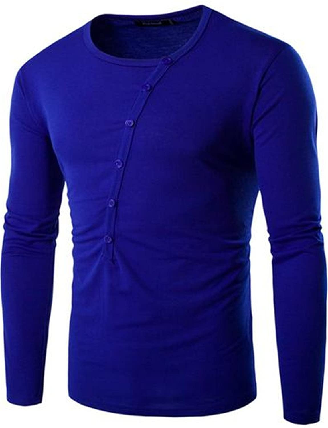 Unko Mens Casual Solid Fall&Winter Crewneck Slim Fit Top Tee