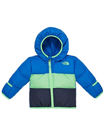 73d7f4c7c The North Face Kids Baby Reversible Moondoggy Jacket (Infant), Monster Blue  0-