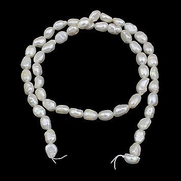New 1 Strang Naturell Süßwasser Perlen Zuchtperlen Schmuck Kette