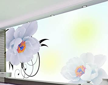 Wapel Stereoscopic 3D Wallpaper Modern Minimalist Aesthetic Flowers Tv Background Mural Silk Cloth