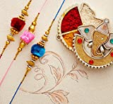 Set of 3 Rakhi Thread for Brother Bhaiya Multicolor Threads Traditional Indian Festival of Rakhis Rakshabandhan Rakhee Bracelet