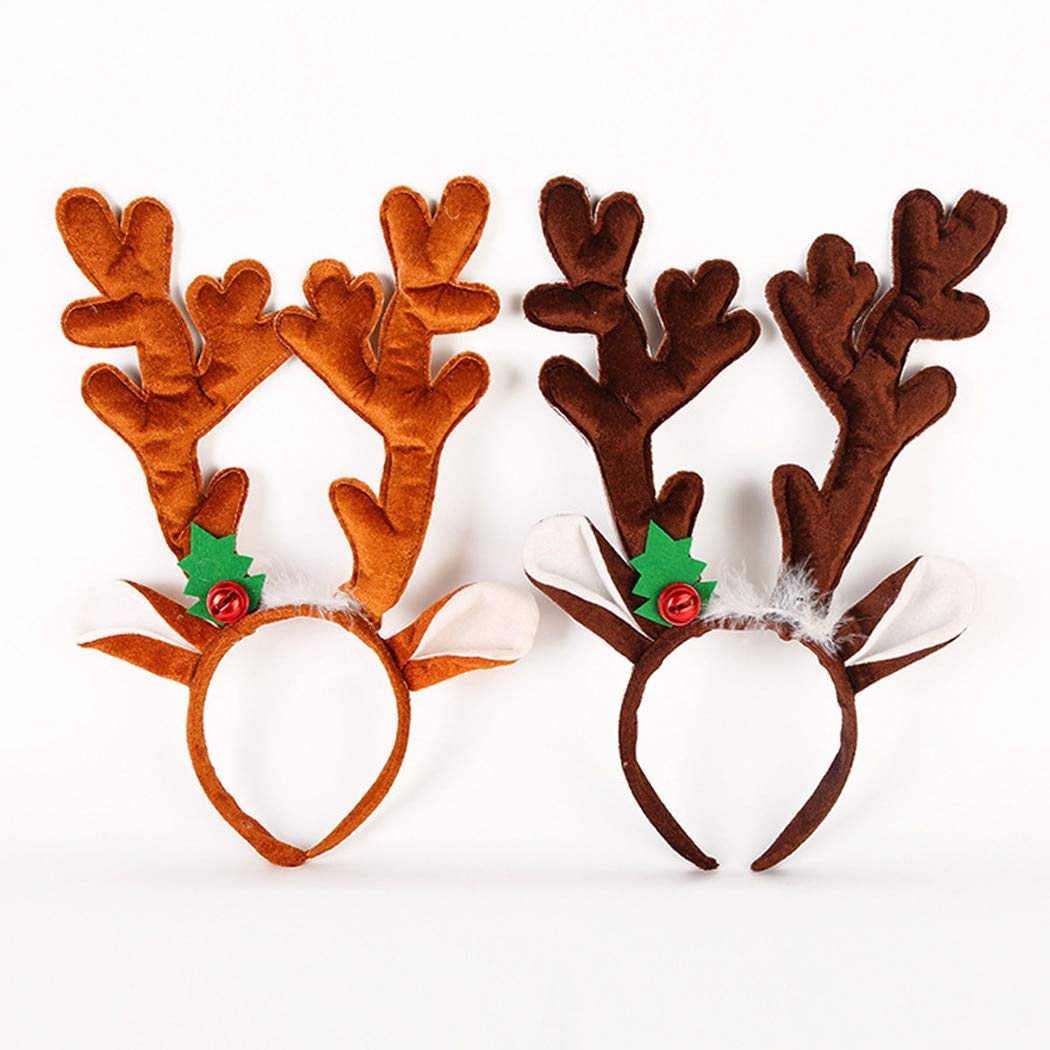 Amazon.com  GOP Store Christmas Cute Hair Bands Elk Antler Headbands for  Girls Festival Buckle Gift Party Head Hoop Hair Accessories for s Adults   Home   ... 3a372c756ba