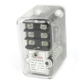 AC 380V 16A 0.5-1.5MPa compresor de aire Interruptor de presión de la válvula
