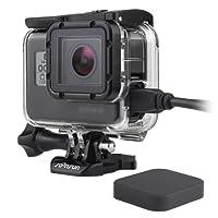 SOONSUN Skeleton Housing Case for GoPro Hero 5 6 Black Hero5 Side Open Housing Case,No Need Remove the Camera's Protective Lens