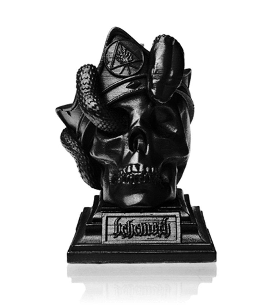 Behemoth 'Unholy Trinity' (Metallic Black) Skull Candle Candella