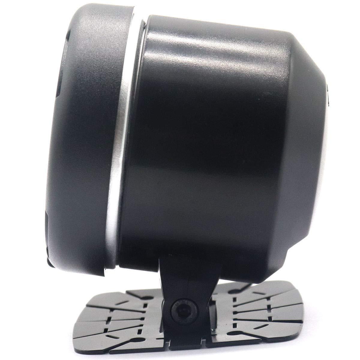 HERCHR Tac/ómetro color negro 12 V para carreras de autos para tac/ómetro ajustable de 64 colores de retroiluminaci/ón 0~9000 RPM