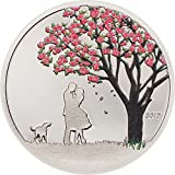 #3: 2017 CK Modern Commemorative CHERRY BLOSSOM Snow Globes Silver Coin 1$ Cook Islands 2017 Proof