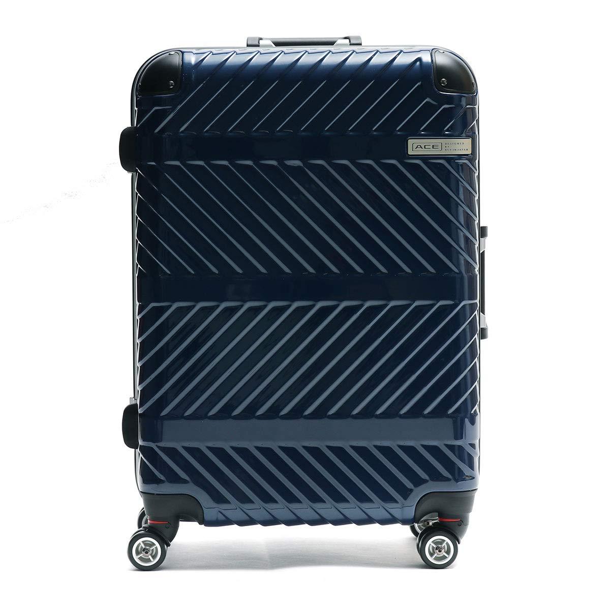 [エース デザインド バイ エース イン ジャパン]ACE DESIGNED BY ACE IN JAPAN パラヴァイド スーツケース 61L 06297 B07Q1F1H6G ネイビー(03)
