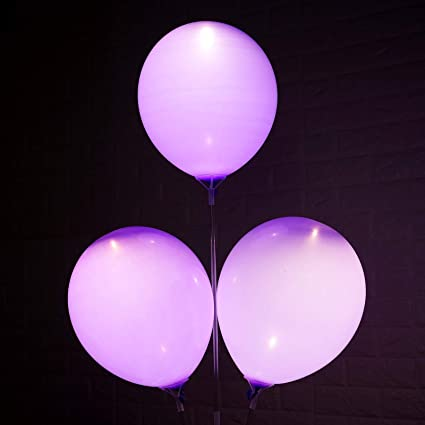Amazon 12 Led Light Latex Balloons Birthday Party Wedding