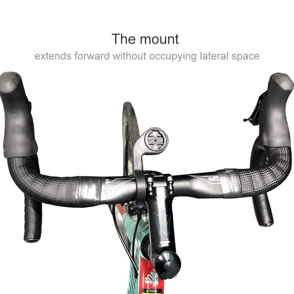 CYCPLUS Cycling Out Front Bike Mount Designed for All Cycling Cumputer Garmin Edge 25 200 500 510 520 800 810 1000 GPS and Other Normal Models