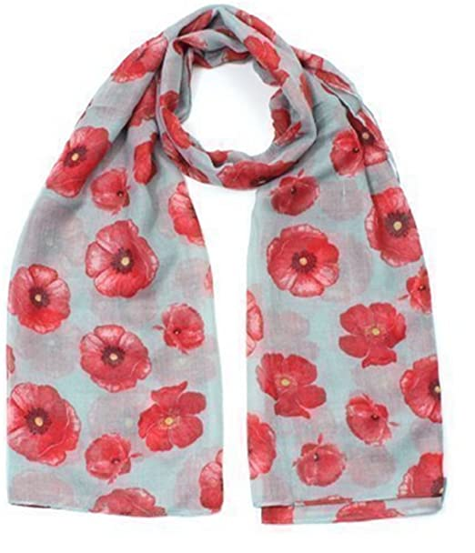 Damen Mohnblume Mohn Muster Mode Schal: Amazon.de: Bekleidung