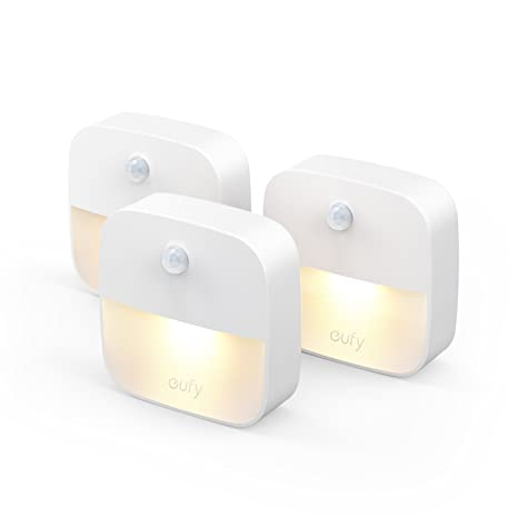 [3 unidades]Eufy Lumi luz de noche, luz nocturna LED blanco con sensor