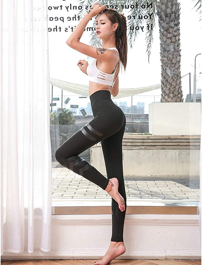 ZHUAN High Waist Athletic Seamless Leggings,Workout Running Tights with Reflective Strip Hips and Quick-Drying Athletic Pants
