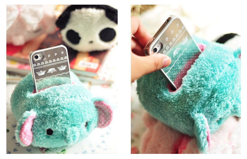 cute plush phone holder