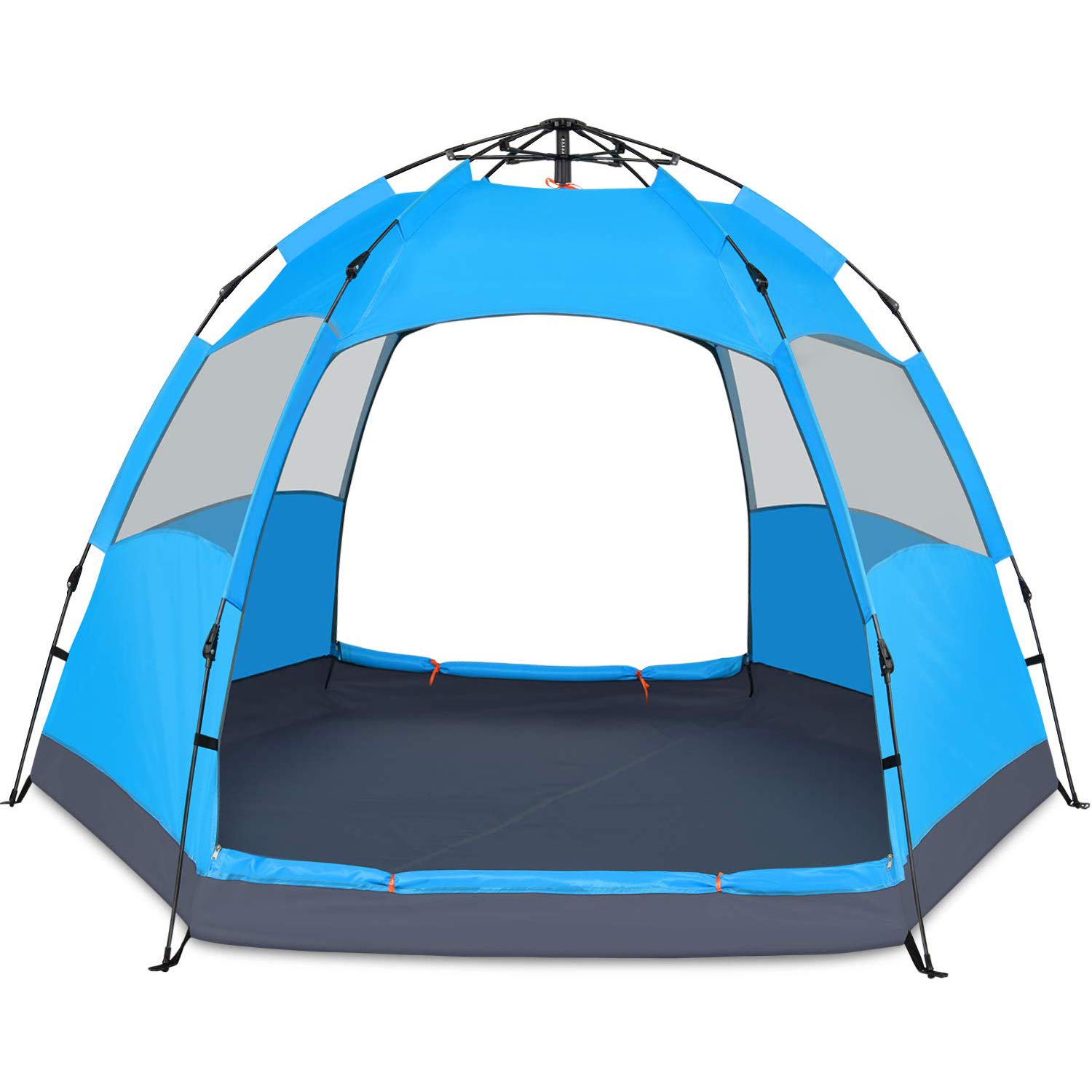 BATTOP 4 Person Tent for Camping Double Layer Family Camping Tent for 4 Seasons Waterproof with Instant Setup by BATTOP