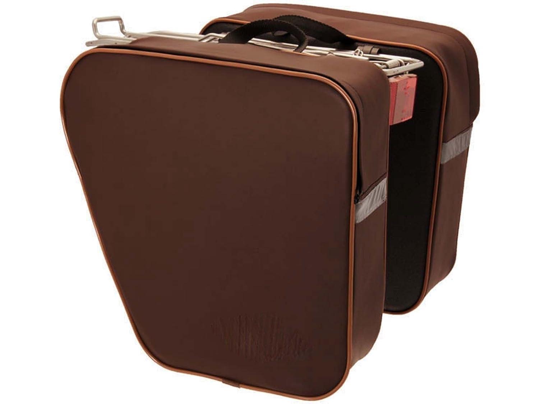 Sacoche double Marron Retro Vintage Eco cuir Sacoches V/élo imperm/éable 3873/m