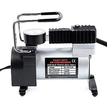 Bomba compresora de aire portátil de 12 V de alta resistencia, bomba de inflador eléctrico